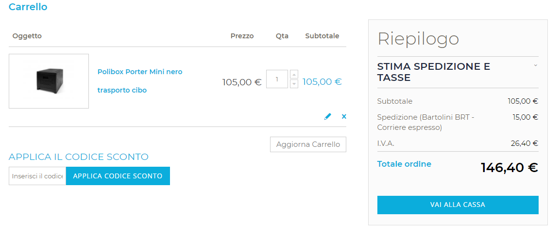 Carrello Polibox ilwebcreativo web agency Ecommerce Checkout Design