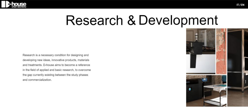 D-house ricerca e sviluppo
